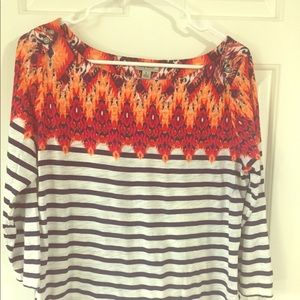 Boho 3/4 sleeve top